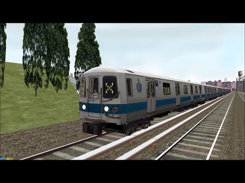 OpenBVE HD: NYC Subway Pre-GOH R44 Luminator Flip-dot Test Train [Download] 4/1/17