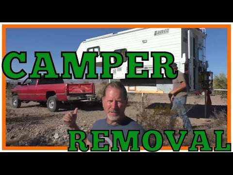 How to Remove a Slide On Truck Camper