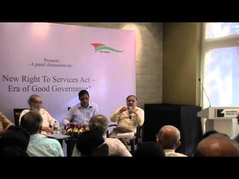 Maharashtra RTS   an open forum at the Press Club 11 Feb 15 Part 1
