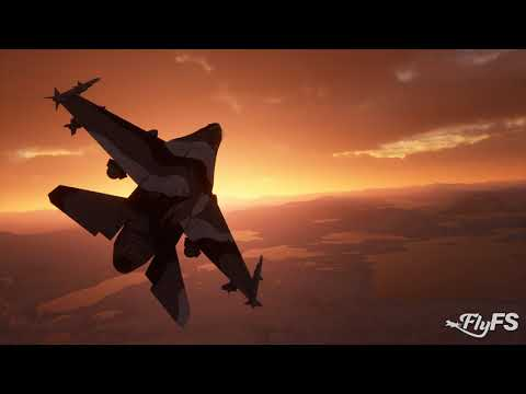 Arctic Camo F-16 Skimming The Clouds At Dawn! - MSFS 2020 Gameplay [Ultra Settings]