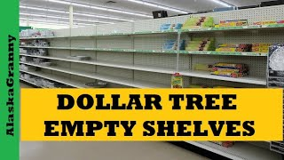 Dollar Tree Empty Shelves Limited Supplies Stock Up While You Can