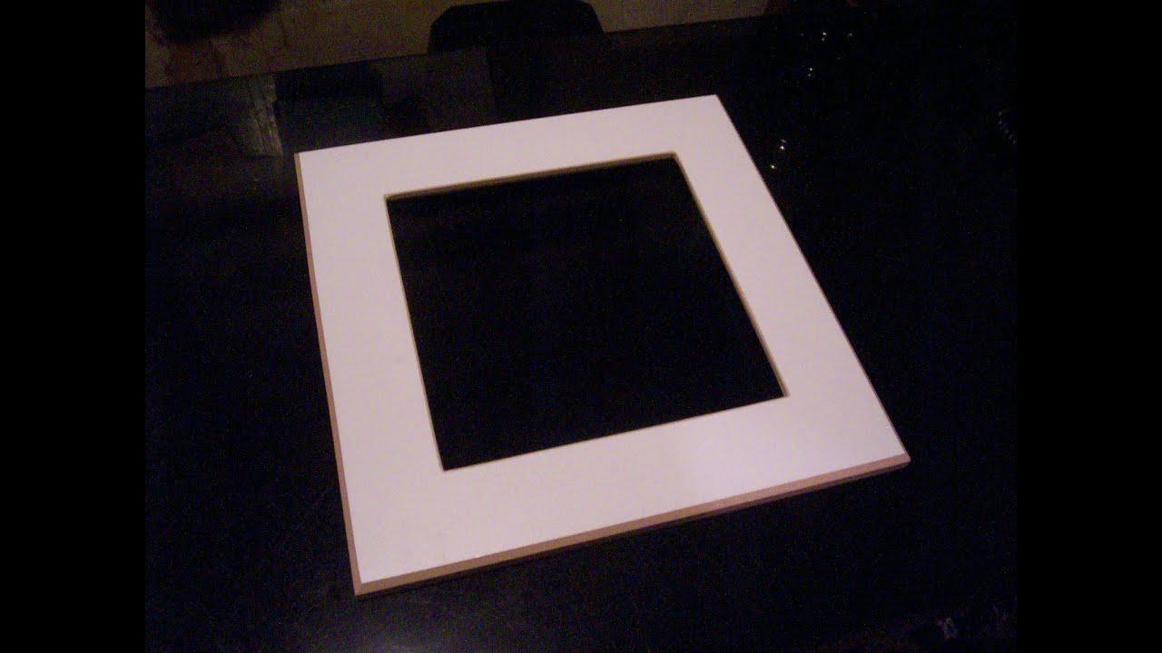 Como hacer un marco para cuadro con melamina juan carlos for Marcos para cuadros a medida
