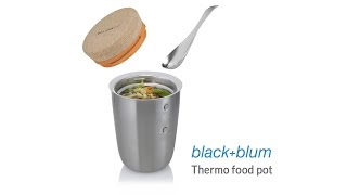 Black and Blum Thermo Stainless Steel Pot