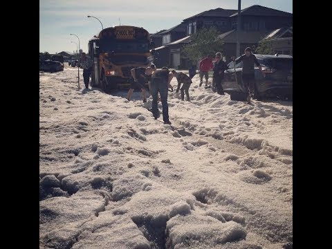 Moose Jaw hit by severe hail storm