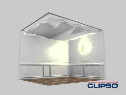 Montage van een NPS spanplafond Clipso systeem - YouTube