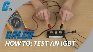 How to test an IGBT with a Multimeter