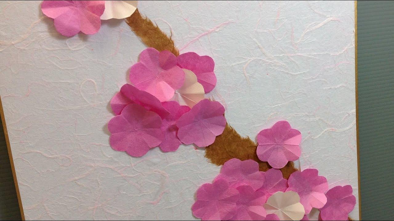 Origami Sakura Cherry Blossoms Display Shikishi - YouTube - photo#41