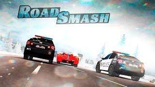 Сумасшедшие Гонки #1 Прохождение игры ВИДЕО для детей про машинки ROAD SMASH kids games about cars