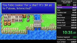 Final Fantasy II (GBA any%)  - 2:50:38