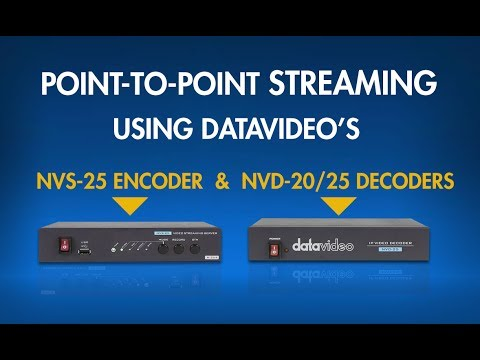 NVS-25 & NVS-20/25: How to Send Video From Your Encoder to Your Decoder