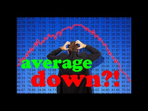Averaging down crypto losing long trade