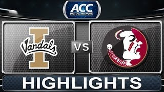 2013 ACC Football Highlights | Idaho vs Florida State | ACCDigitalNetwork