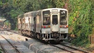 ミャンマー国鉄・元JR東海キハ11形 パヤーラン駅到着 Myanmar Railways Former JR Central Train