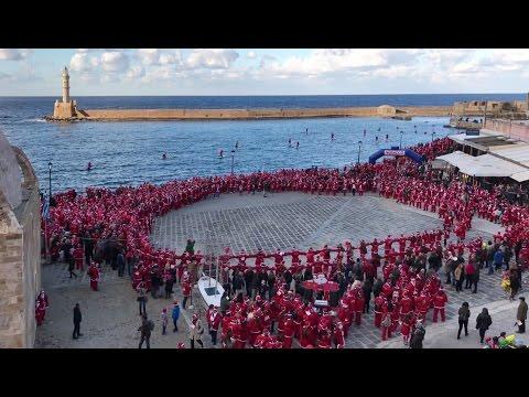 Santa Run Chania 2016 - Η παρέλαση...