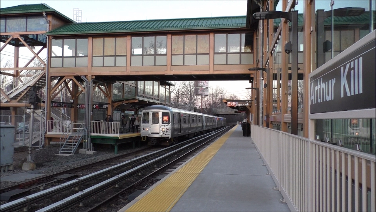 Staten Island Railway HD 60fps: Brand New Arthur Kill
