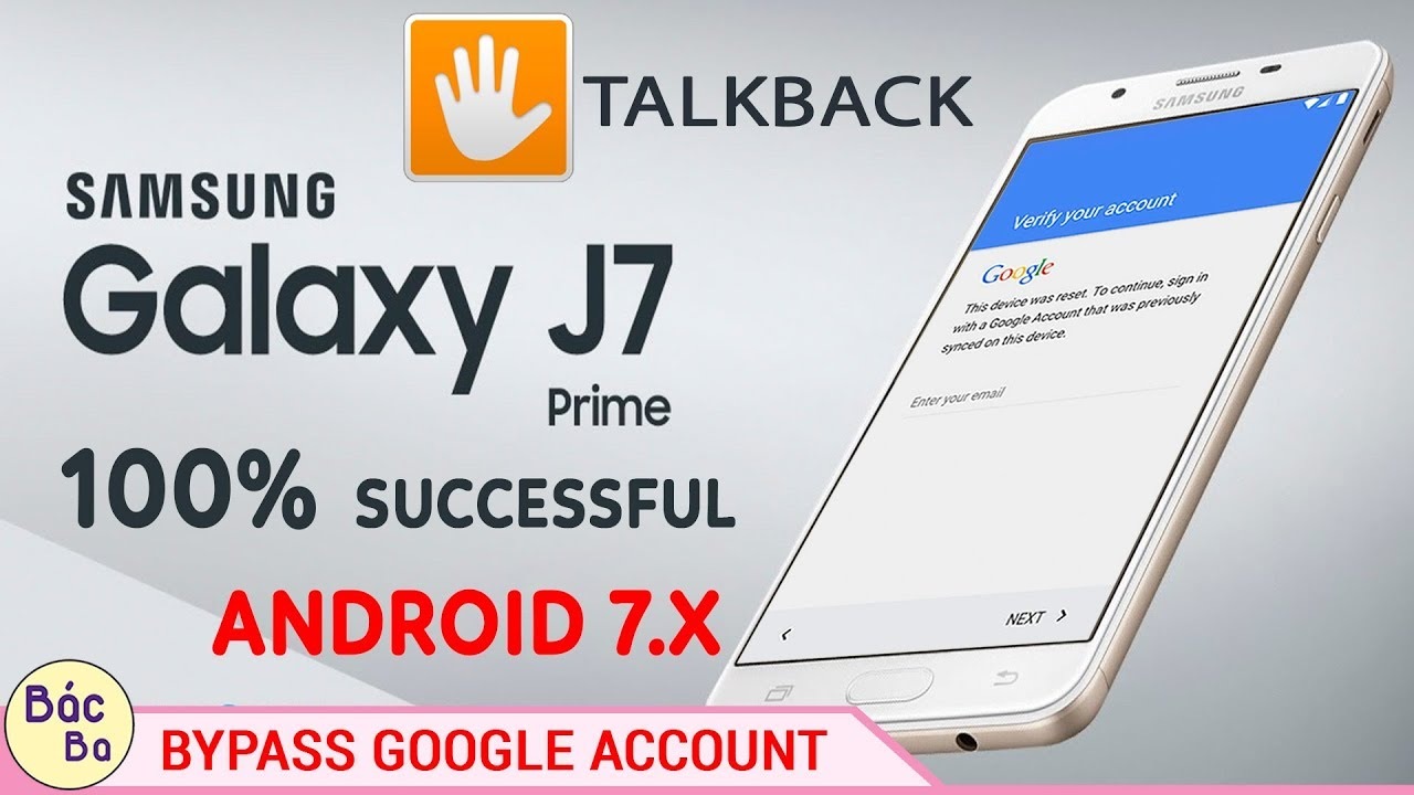 How To Bypass FRP Google Acccount Samsung Galaxy J7 Prime, J5 prime Android  7 0 | 100% Done