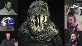 """""""Реакции Летсплейщиков"""" на Монстра в Подвале из Resident Evil 7"""