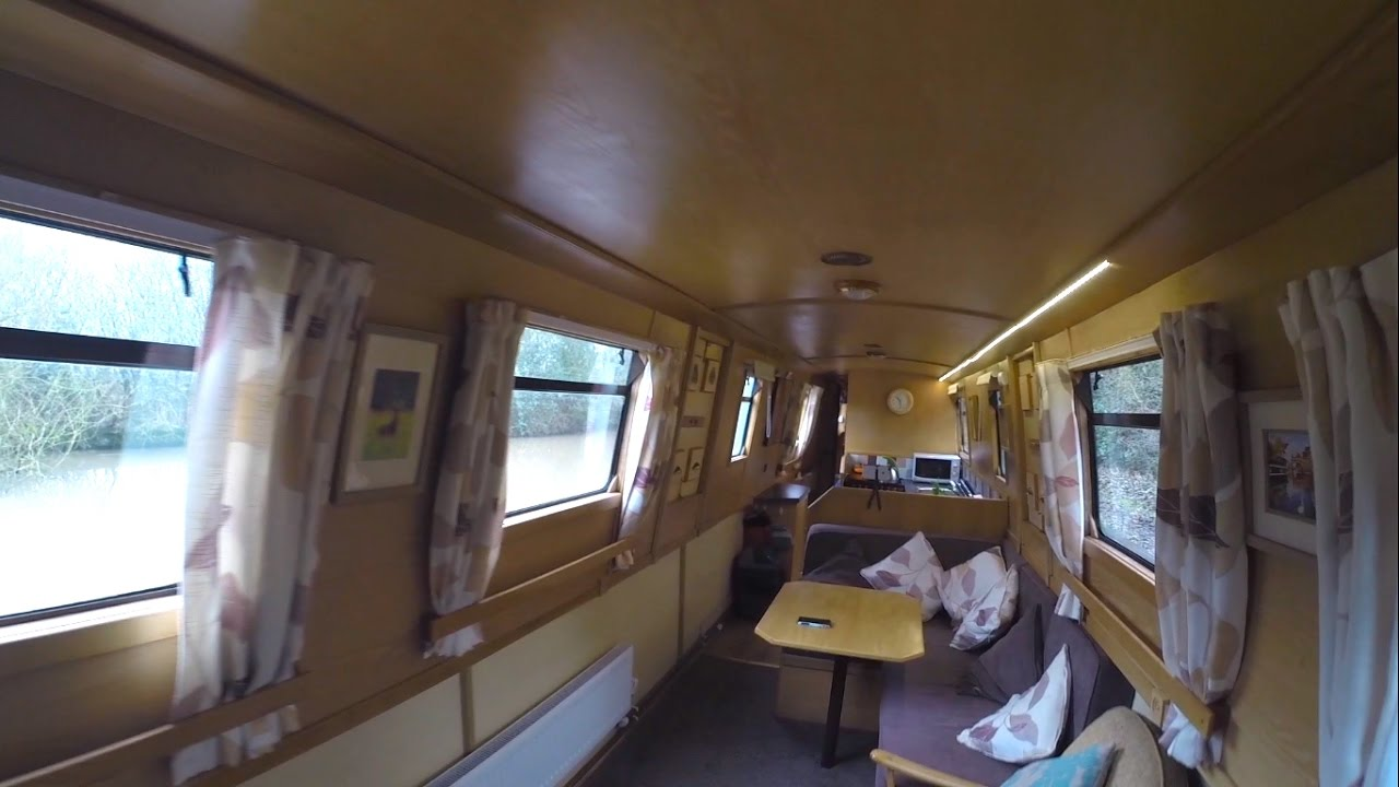Inside a nutshell inside our narrowboat youtube for Narrowboat interior designs