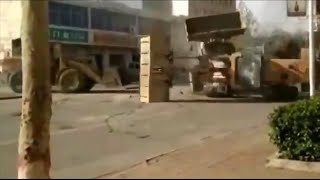 Bulldozer Fight in China