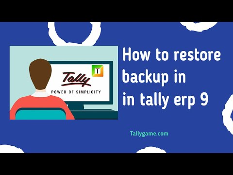 how to restore tally data, restore backup in tally erp9