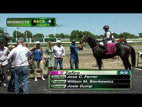 video thumbnail for MONMOUTH PARK 6-23-19 RACE 4