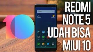 Apakah RedMi Note 5 Udah Dapat Update MIUI 10?