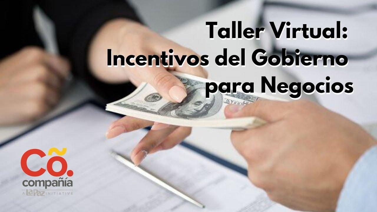 Taller Virtual: Incentivos del Gobierno para Negocios