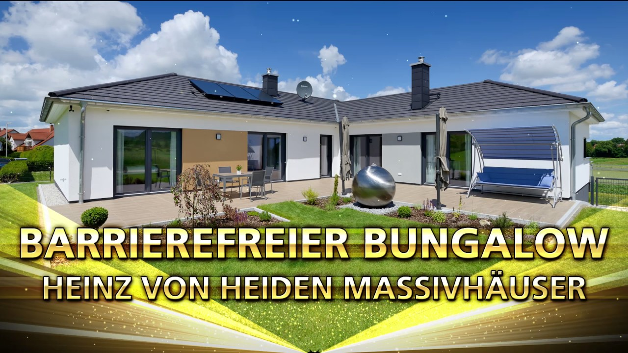 Deutscher Traumhauspreis 2017 Barrierefreier Bungalow Youtube