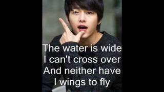 Song Joong Ki - The Water is Wide with Lyrics [OST. Many a Little Romance]