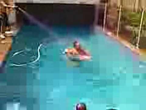 BIGGEST pool jump EVER!!!!! 20m jump into backyard pool ...