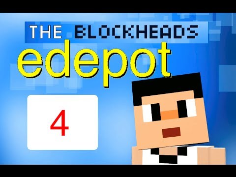 Let's Play: The Blockheads - Part 4 (Upgrading Furnace, Mining, Gem Collecting)