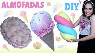DIY ALMOFADAS FOFAS DE DOCES: SORVETE, BISCOITO & MARSHMALLOW