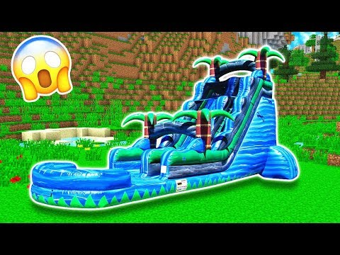 WORLDS BIGGEST MINECRAFT WATERSLIDE!