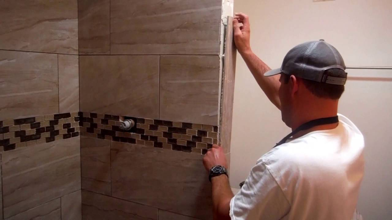 How to fit bathroom tiles - Install Shower Tile Edging Trim Quick And Easy