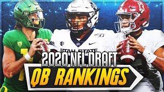 Big Shakeup To My Top 3 QB Prospects || 2020 NFL Draft Quarterback Top 10 Rankings + Pro Comparisons