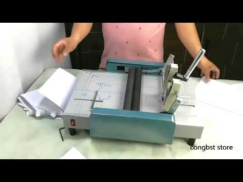 Manual A3 Paper Booklet Riding Saddle Stapler Pamphlet Broshure Binding & Folding Machine