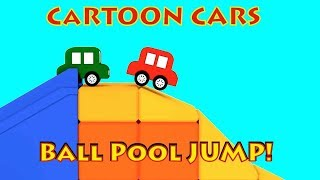 Cartoon Cars - BALL POOL SCHOOL! - Car Cartoons for Kids. Kids Cartoons