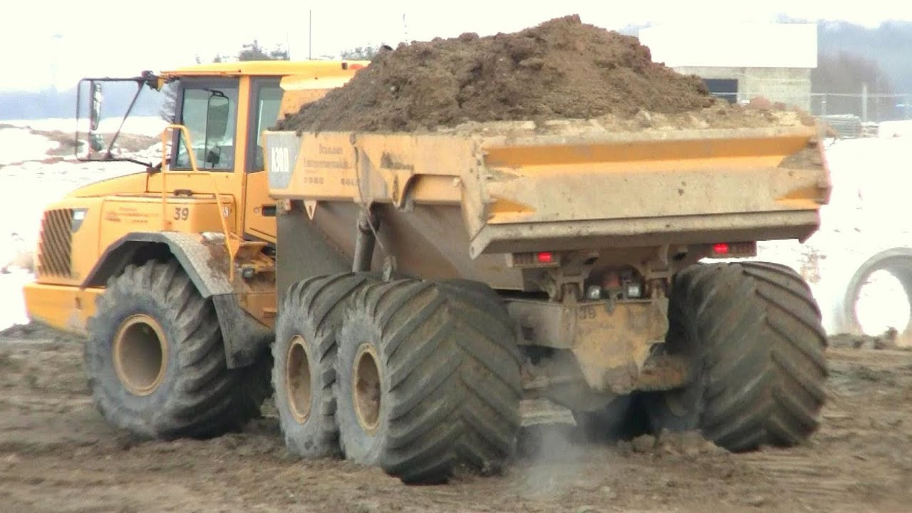 Volvo A30d With 1 Meter Low Ground Pressure Tires Youtube