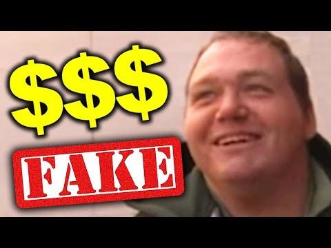 FAKE HOMELESS MAN MAKES MILLIONS!