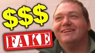 FAKE HOMELESS MAN MAKES MILLIONS!