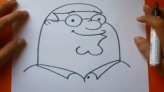 Como dibujar a Peter paso a paso - Padre de Familia | How to draw Peter - Family guy