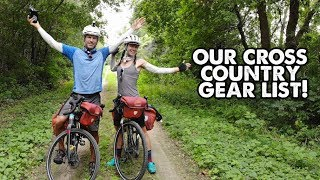 What To Pack For A Long Bicycle Tour-Ryan and Ali Bike Across America-ep16