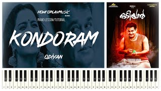 Kondoram Odiyan Piano Tutorial | Piano Lesson | Mohanlal | HowToPlayMusicReloaded