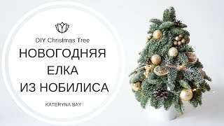 Мастер-класс: Как сделать елку из нобилиса? I Елка своими руками на новый год | DIY Christmas tree