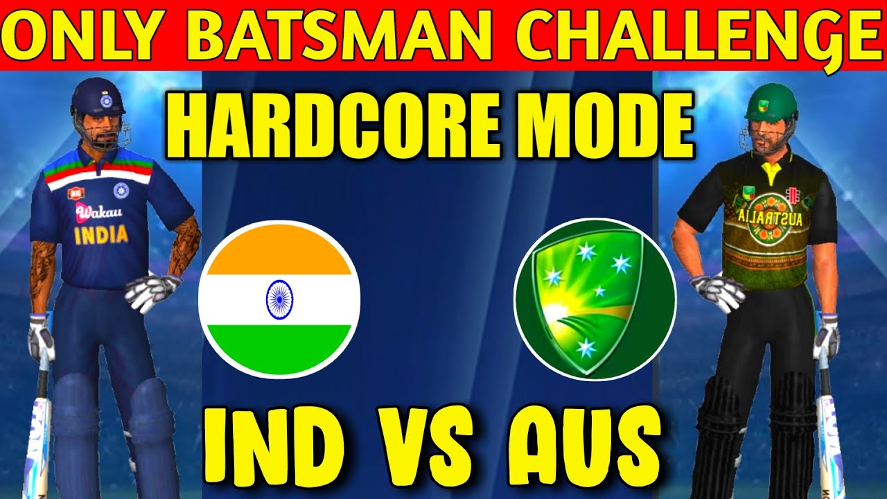 ONLY BATSMAN CHALLENGE IN REAL CRICKET 20 HARDCORE MODE