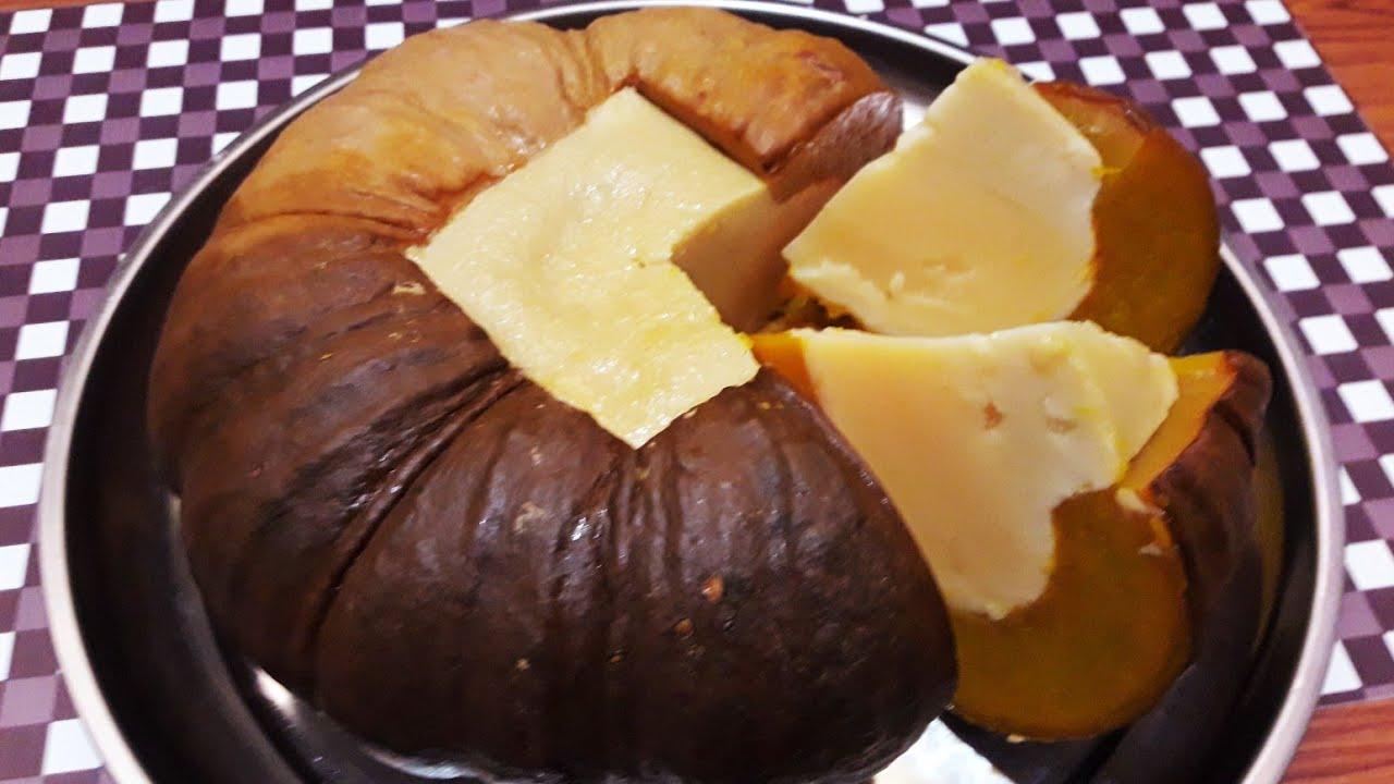 របៀបធ្វើ សង់ខ្យាល្ពៅ - Pumpkin Custard - Khmer Dessert | Samphos Cooking Food