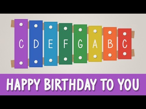 How to play Happy Birthday to You on a Xylophone - Easy Tutorial - YOUCANPLAYIT.COM