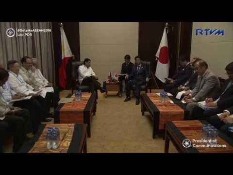 Bilateral Meeting with Japan Prime Minister 9/6/2016
