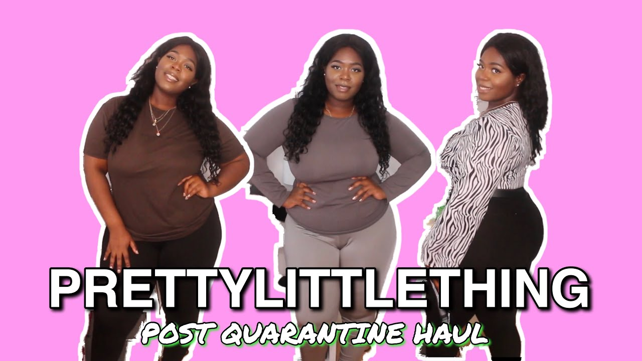 PRETTYLITTLETHING POST-QUARANTINE OUTFITS | Pretty Little Thing Plus Size Try On Haul 2020