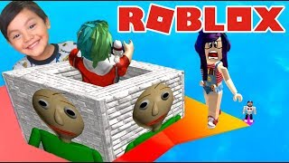 999,999 Meters Jump in Roblox Baldi's Basic Box ? Slide Down Roblox in Spanish